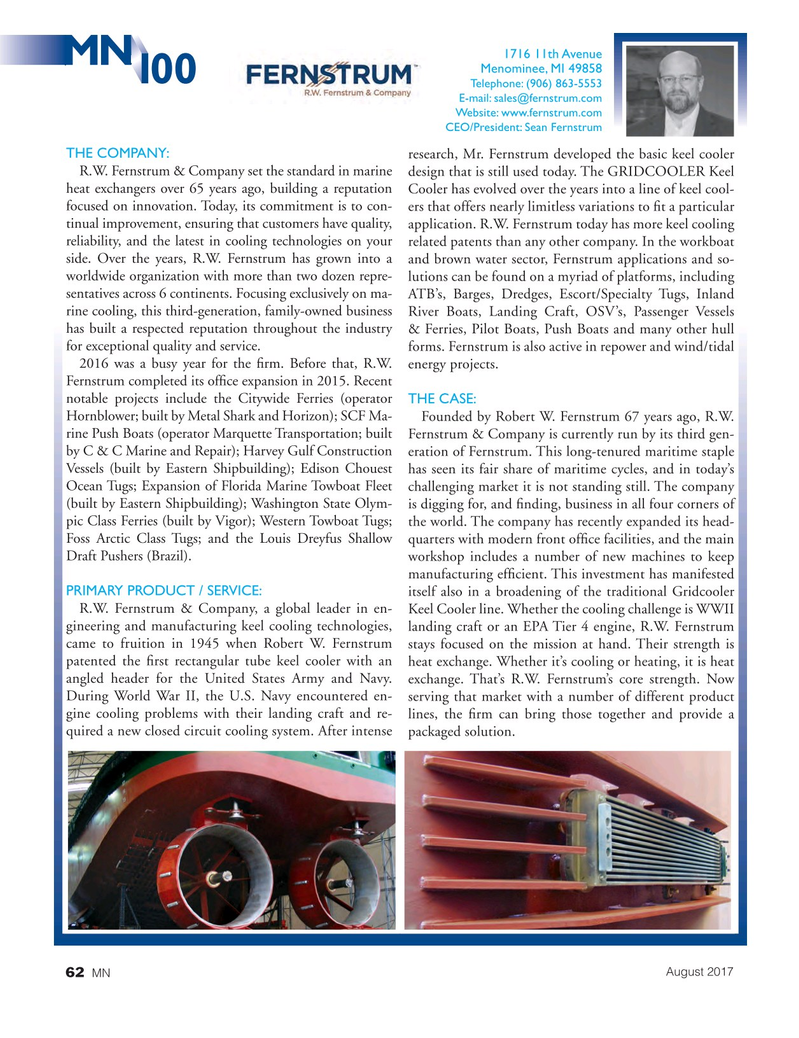 Marine News Magazine, page 62,  Aug 2017