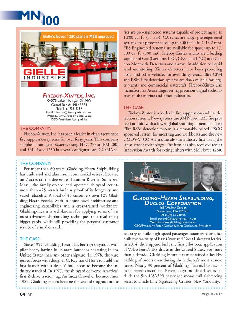 Marine News Magazine, page 64,  Aug 2017