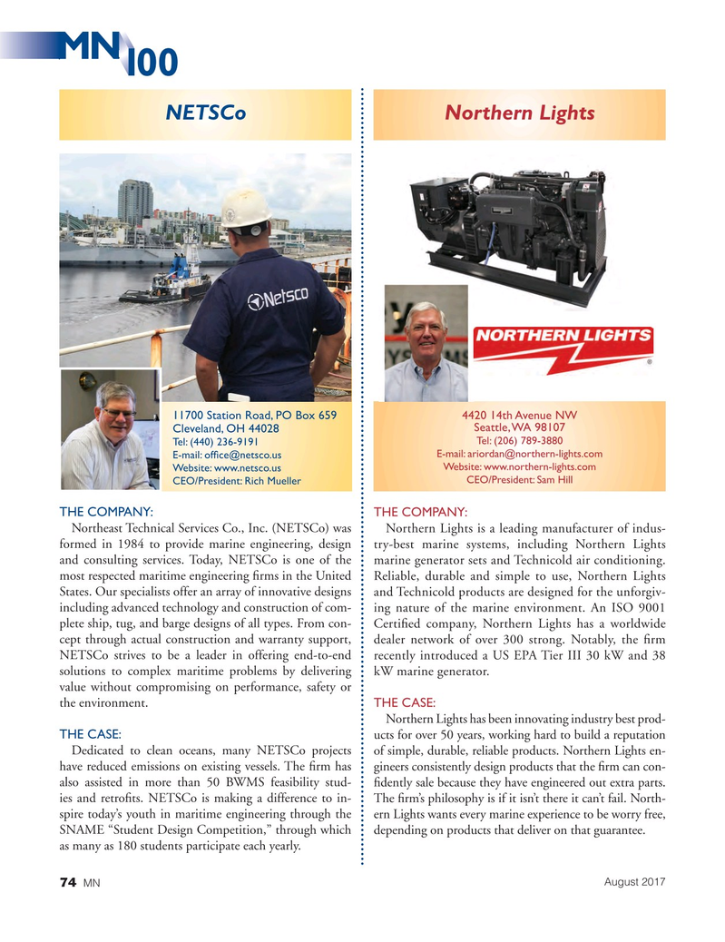 Marine News Magazine, page 74,  Aug 2017