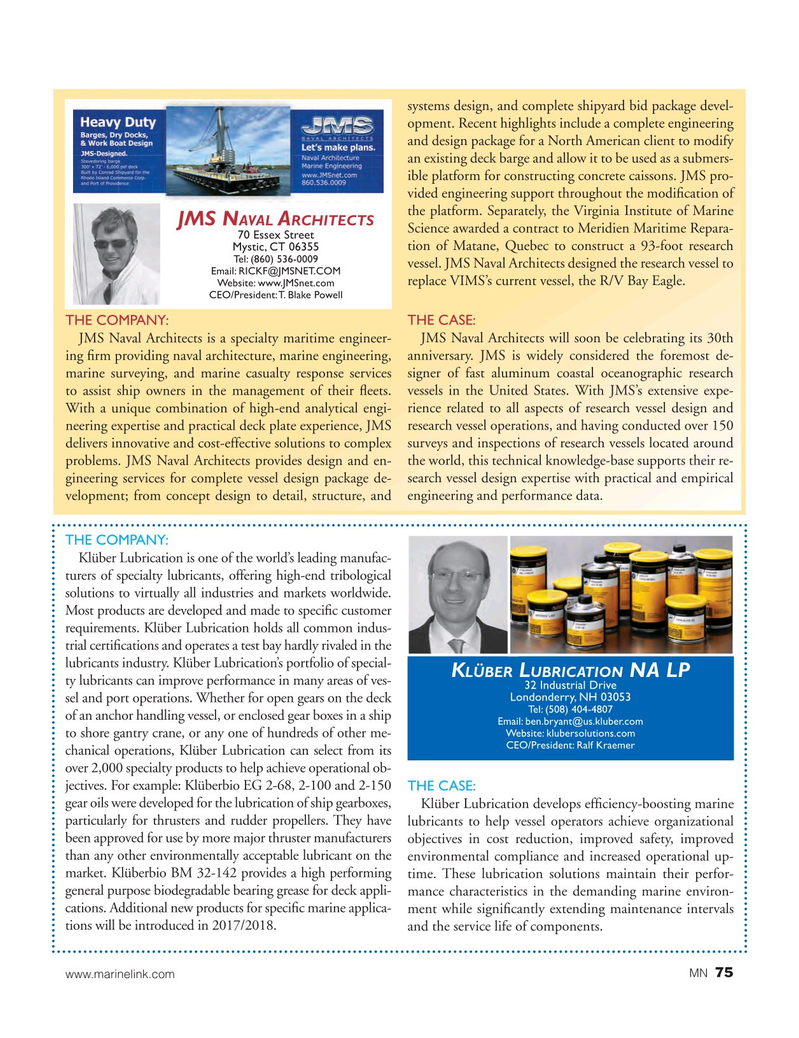 Marine News Magazine, page 75,  Aug 2017