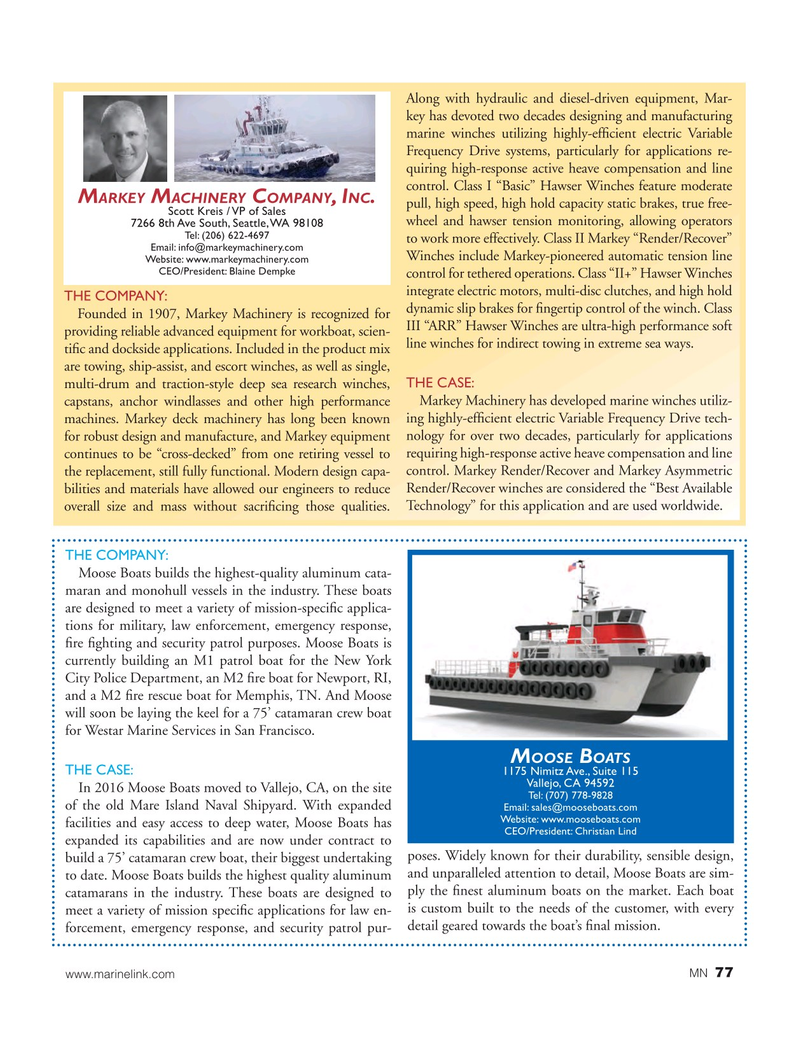 Marine News Magazine, page 77,  Aug 2017