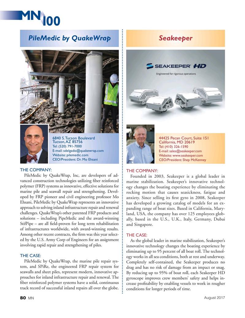 Marine News Magazine, page 80,  Aug 2017