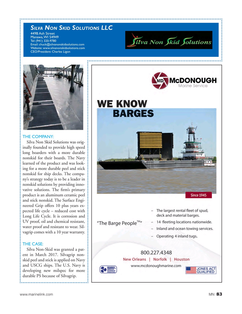 Marine News Magazine, page 83,  Aug 2017
