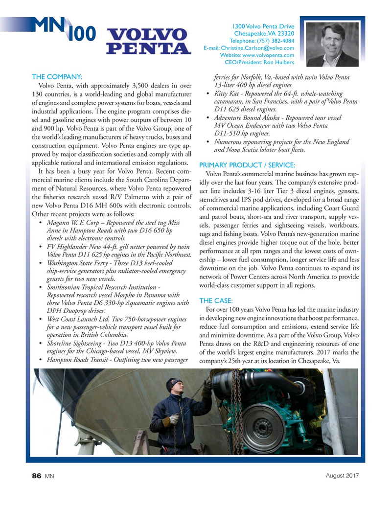 Marine News Magazine, page 86,  Aug 2017