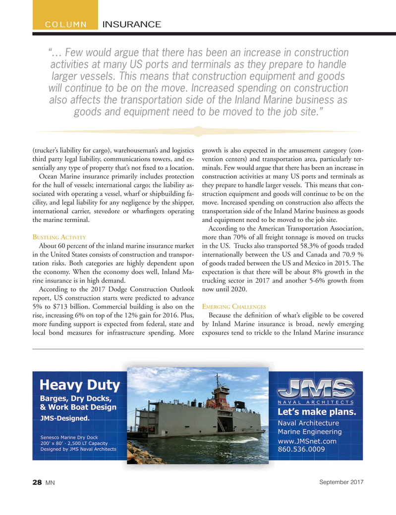 Marine News Magazine, page 28,  Sep 2017