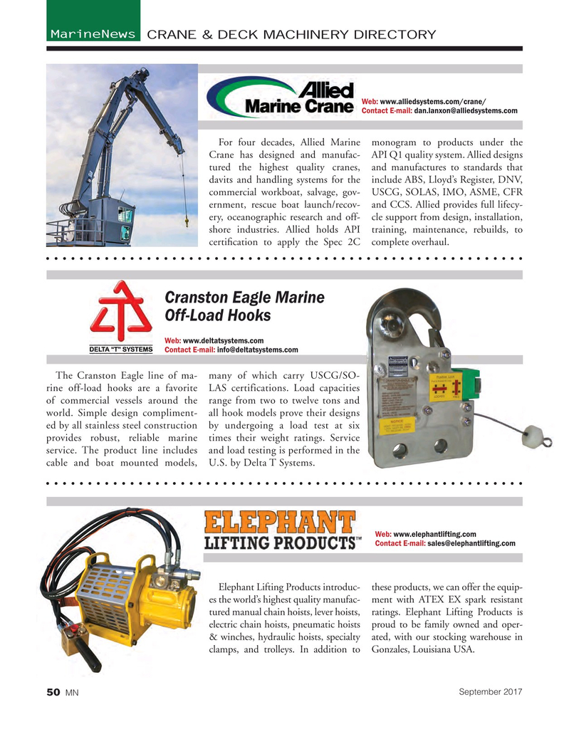 Marine News Magazine, page 50,  Sep 2017