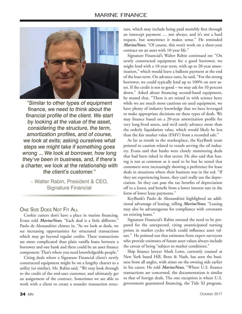 Marine News Magazine, page 34,  Oct 2017