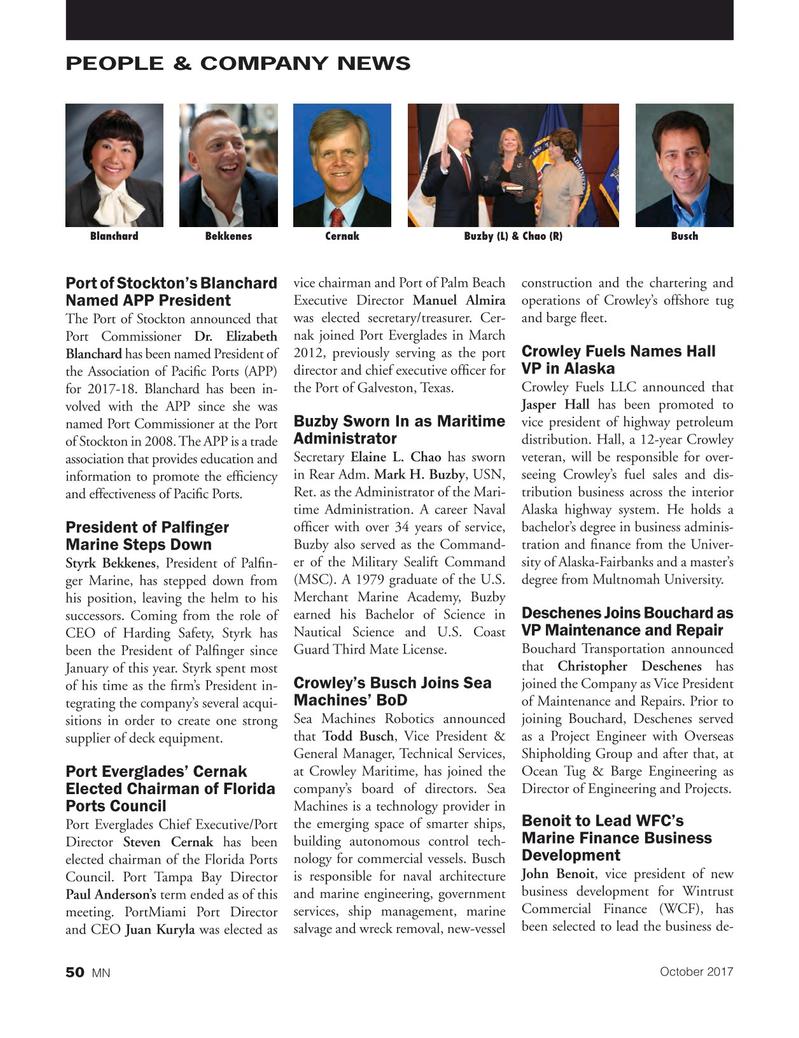 Marine News Magazine, page 50,  Oct 2017