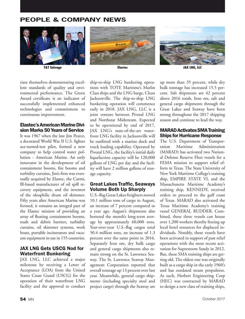 Marine News Magazine, page 54,  Oct 2017