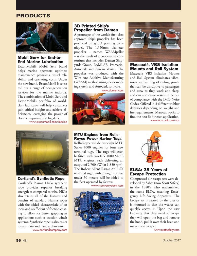 Marine News Magazine, page 56,  Oct 2017