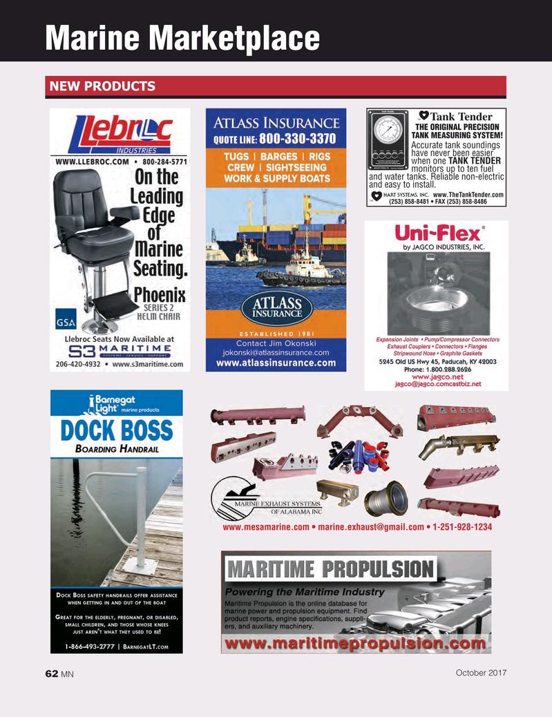 Marine News Magazine, page 62,  Oct 2017