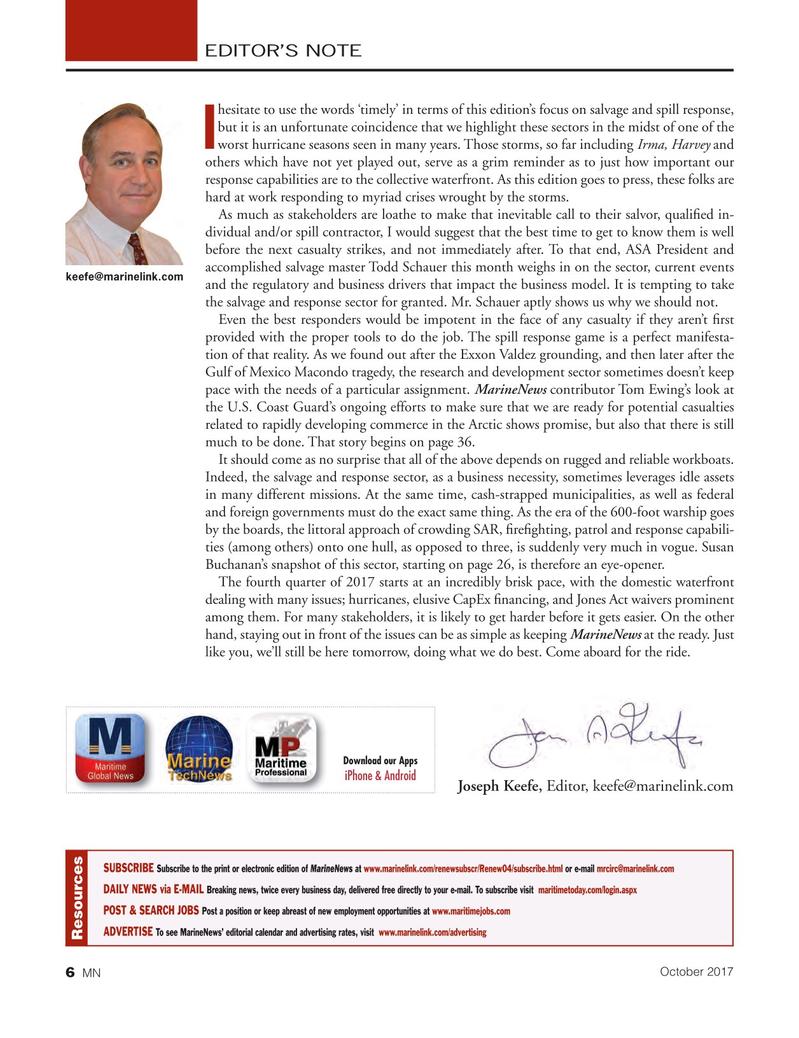 Marine News Magazine, page 6,  Oct 2017