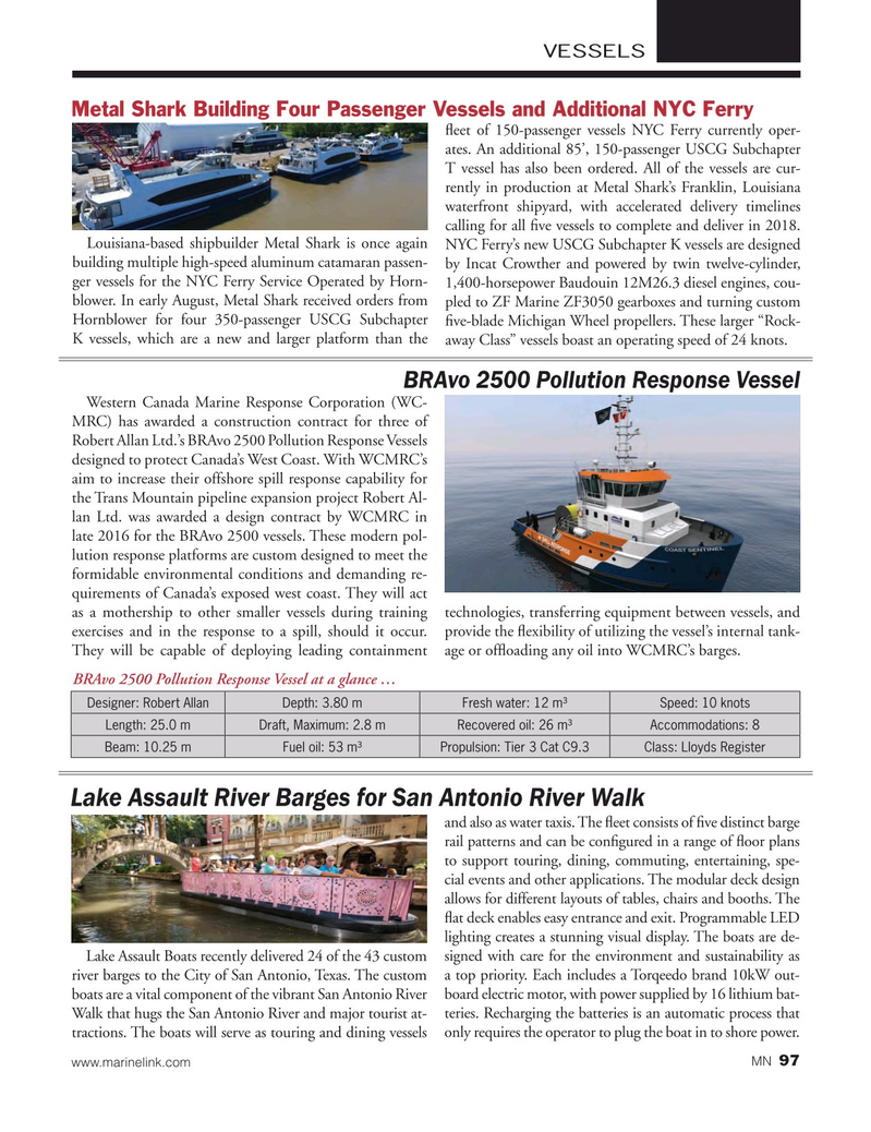 Marine News Magazine, page 97,  Nov 2017