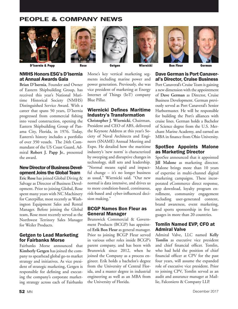 Marine News Magazine, page 52,  Dec 2017