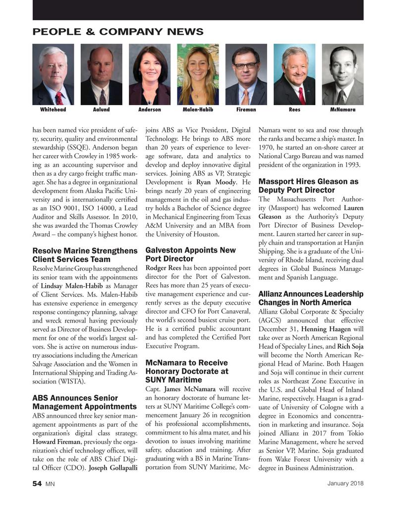 Marine News Magazine, page 54,  Jan 2018