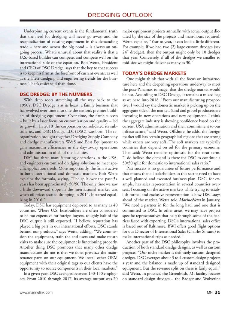 Marine News Magazine, page 31,  Feb 2018