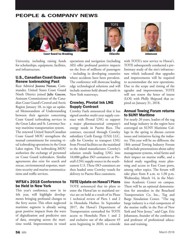Marine News Magazine, page 56,  Mar 2018