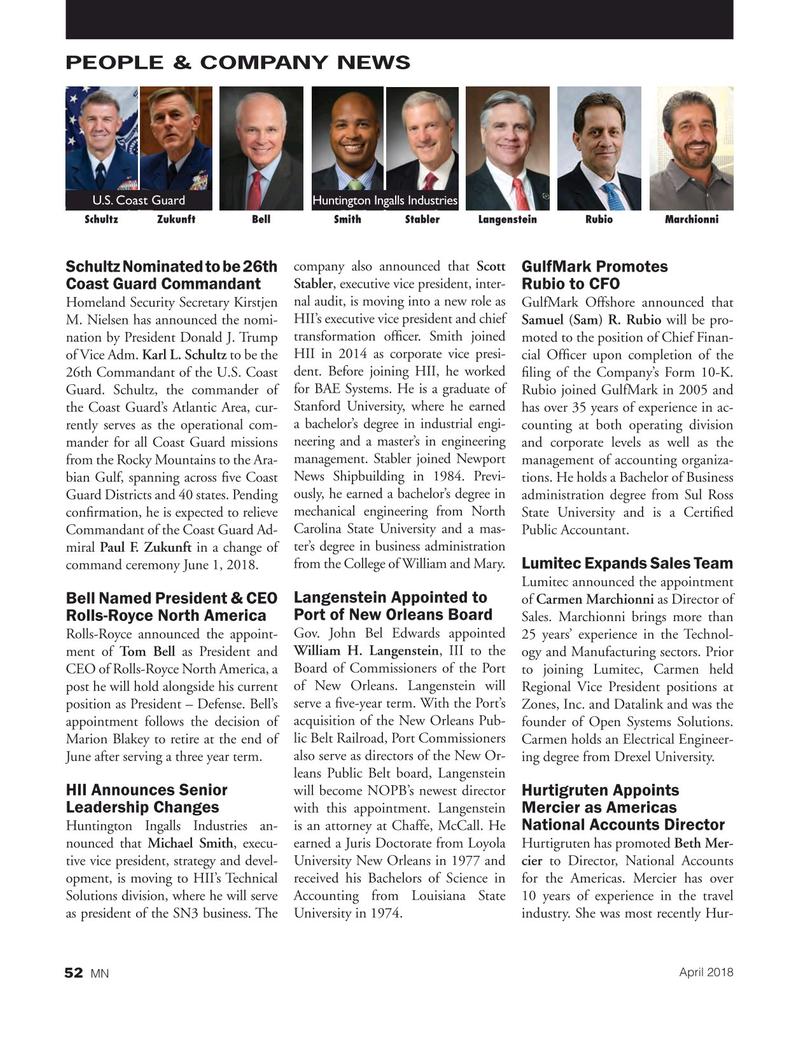 Marine News Magazine, page 52,  Apr 2018
