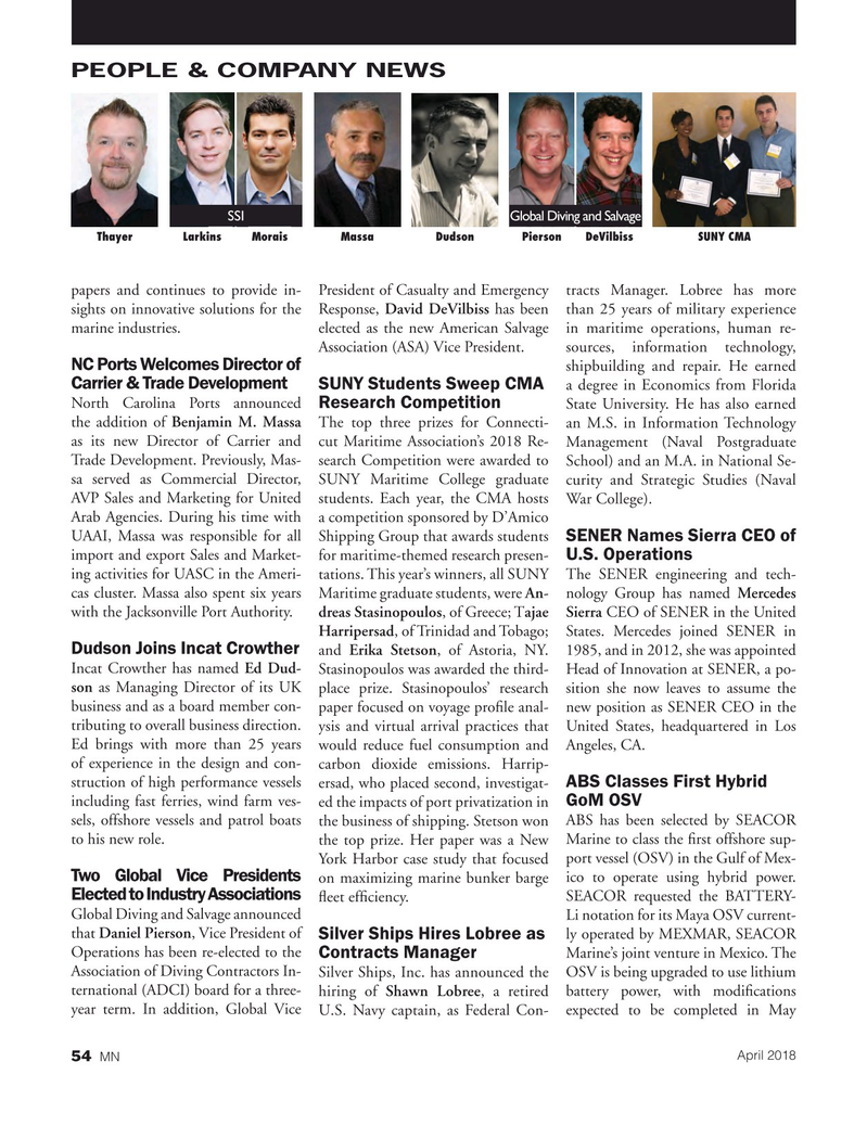 Marine News Magazine, page 54,  Apr 2018