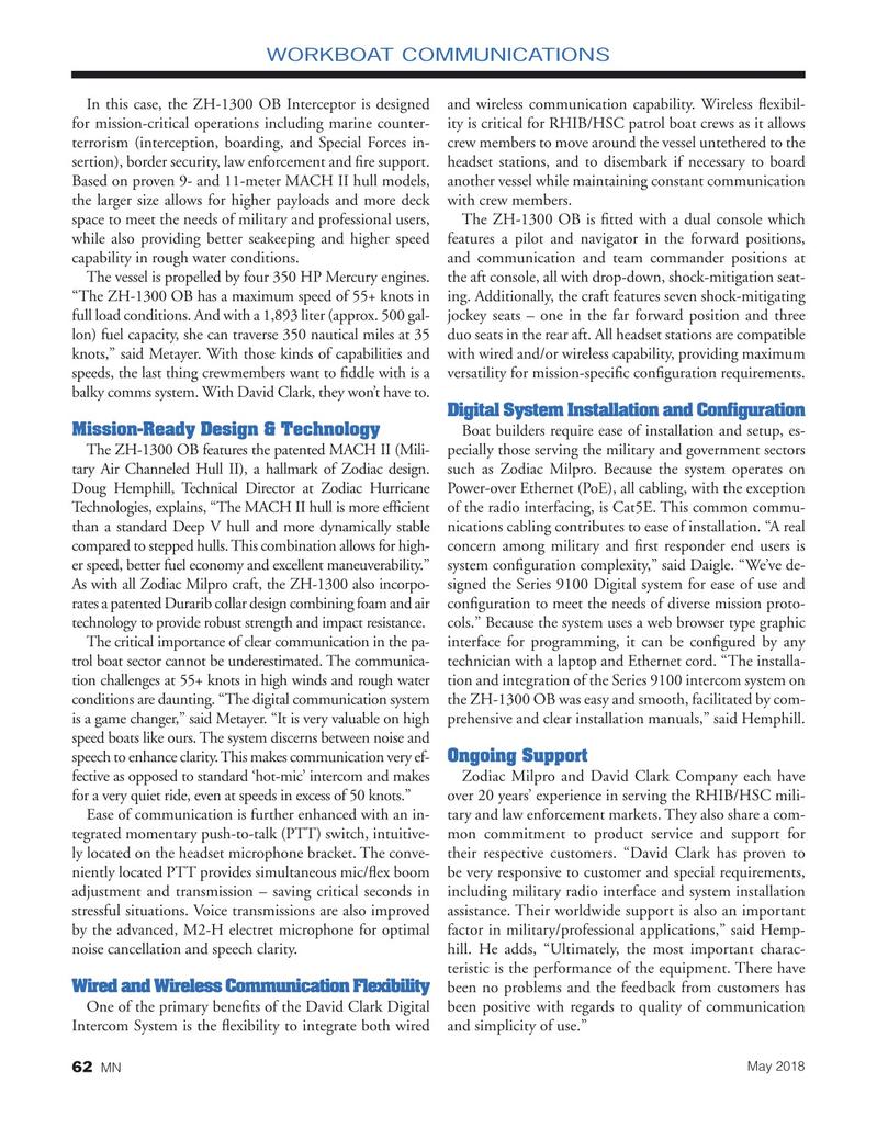 Marine News Magazine, page 62,  May 2018