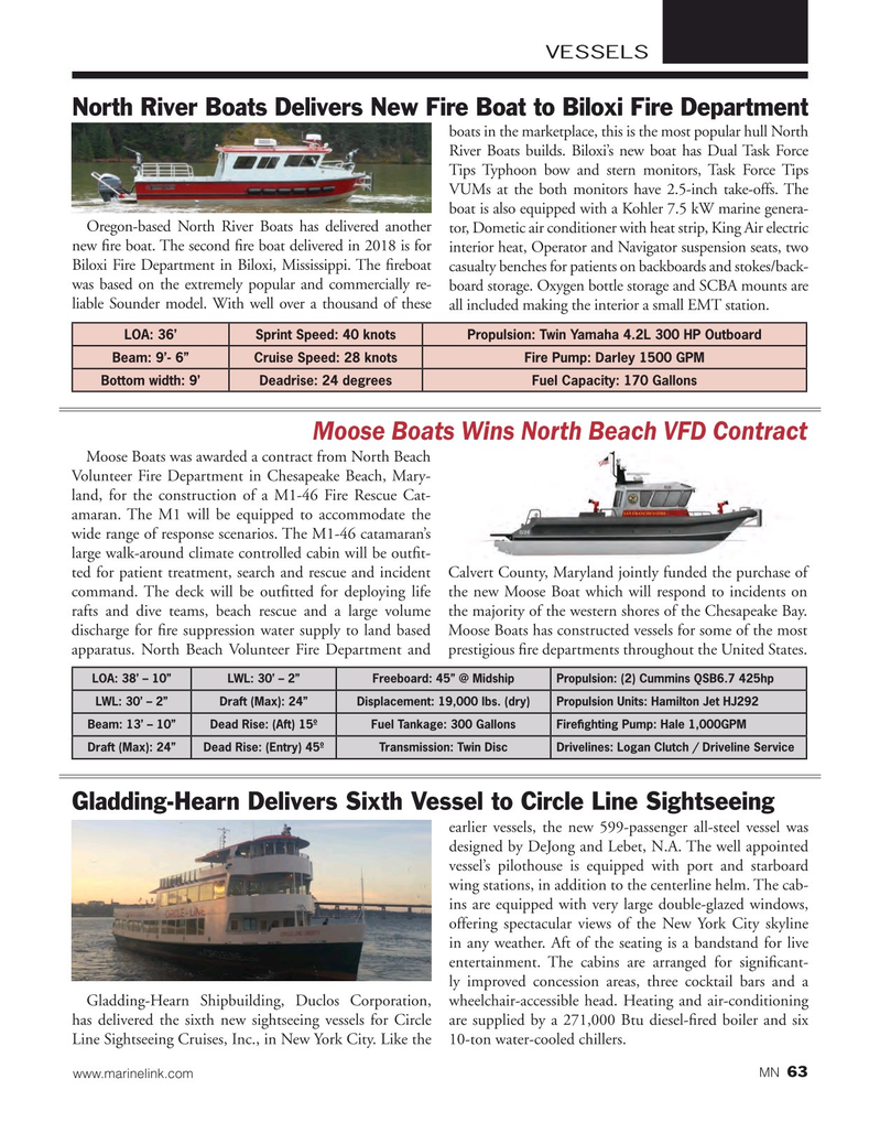 Marine News Magazine, page 63,  May 2018