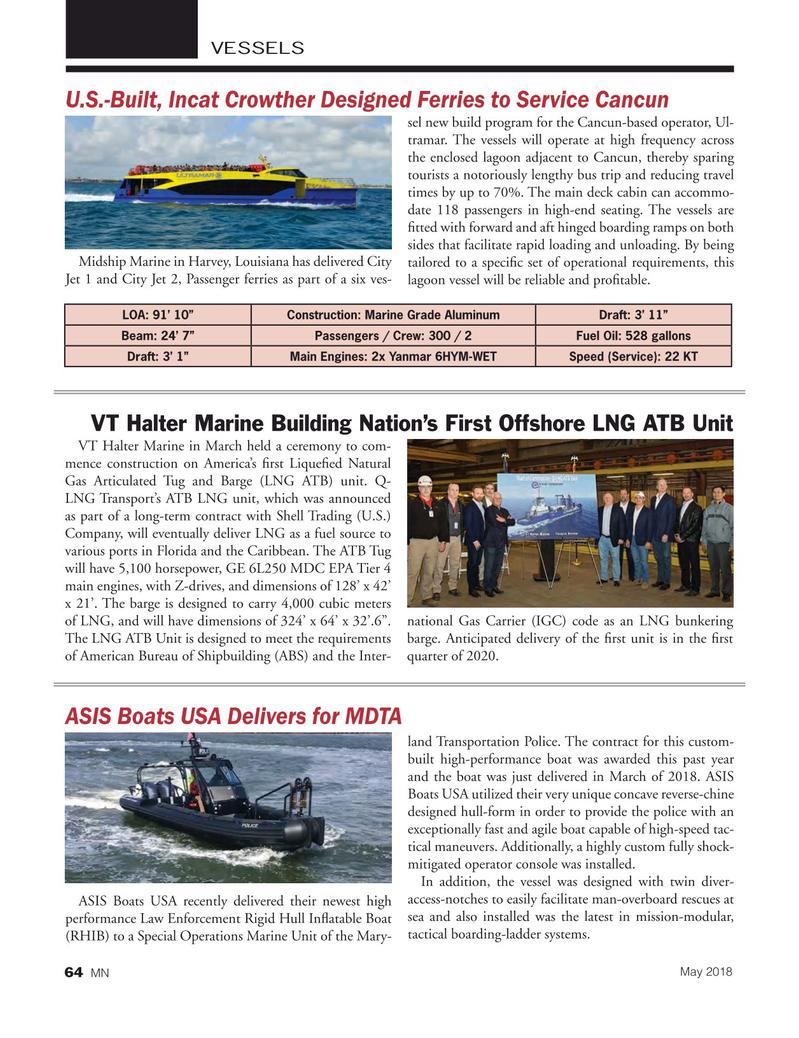 Marine News Magazine, page 64,  May 2018