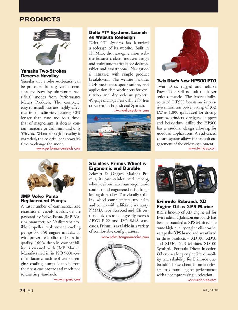 Marine News Magazine, page 74,  May 2018