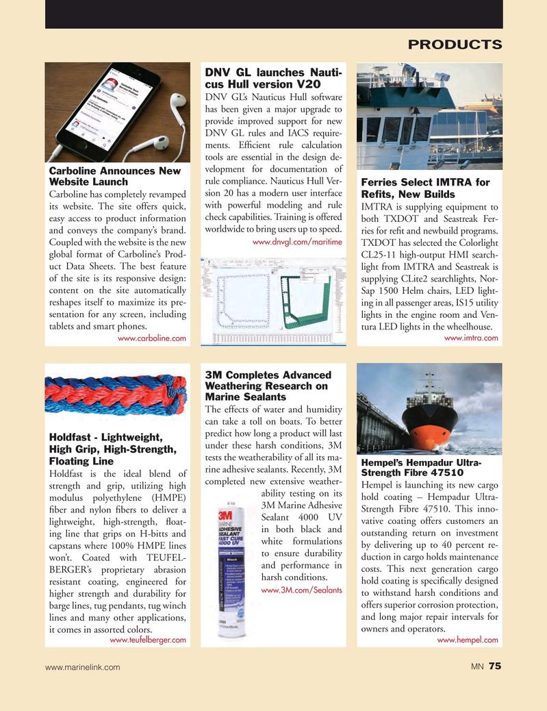 Marine News Magazine, page 75,  May 2018