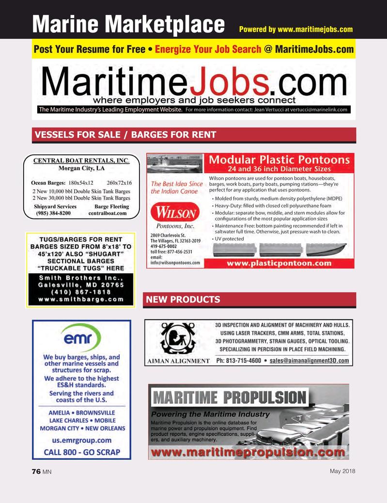 Marine News Magazine, page 76,  May 2018