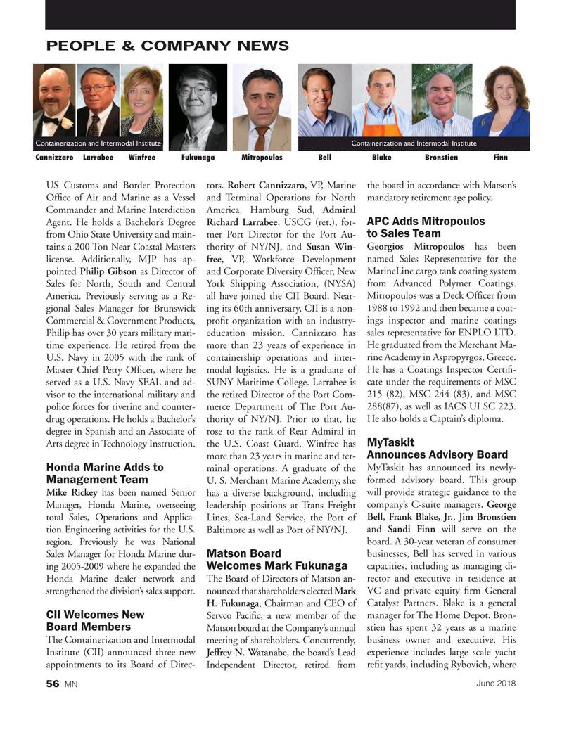 Marine News Magazine, page 56,  Jun 2018