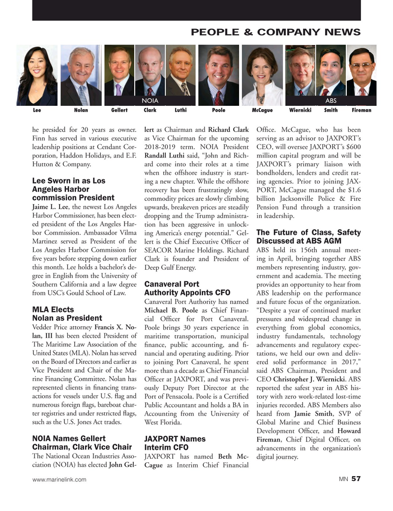 Marine News Magazine, page 57,  Jun 2018