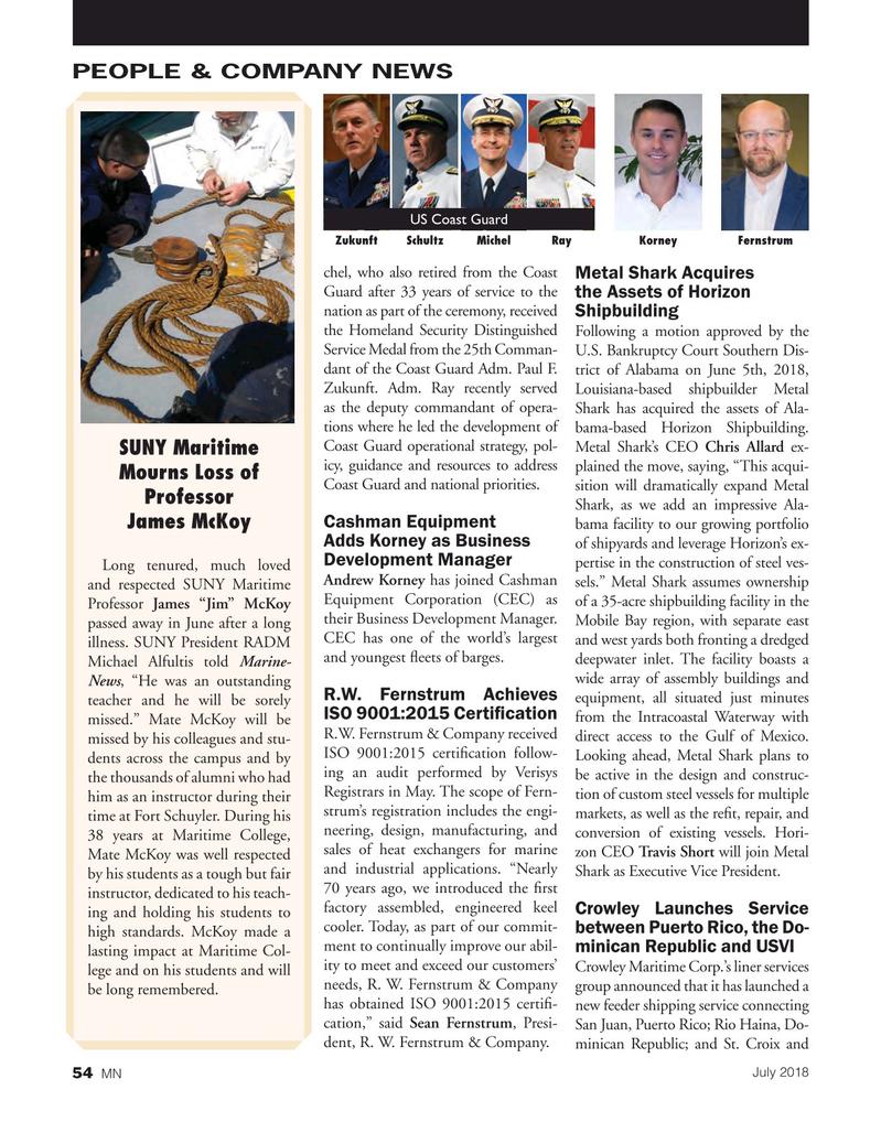 Marine News Magazine, page 54,  Jul 2018