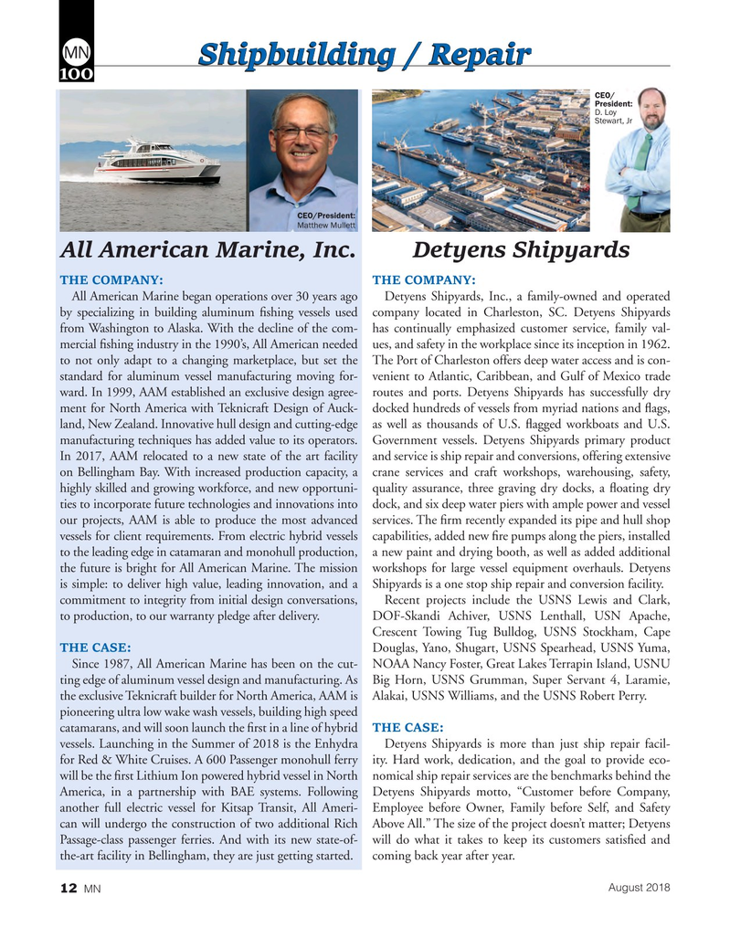 Marine News Magazine, page 12,  Aug 2018