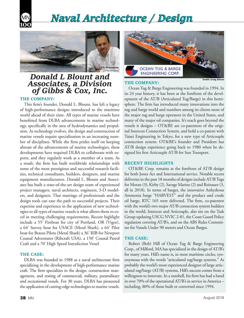Marine News Magazine, page 38,  Aug 2018