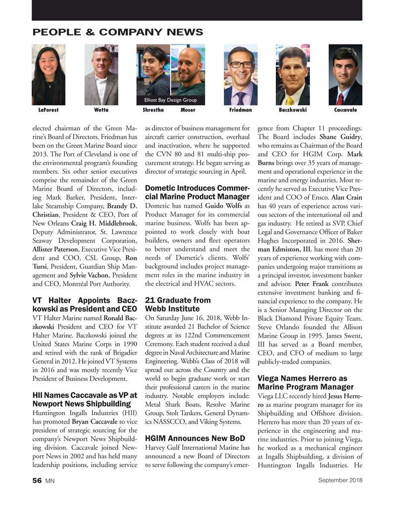 Marine News Magazine, page 56,  Sep 2018