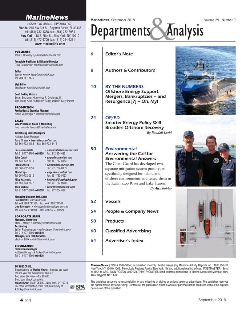 Marine News Magazine, page 4,  Sep 2018