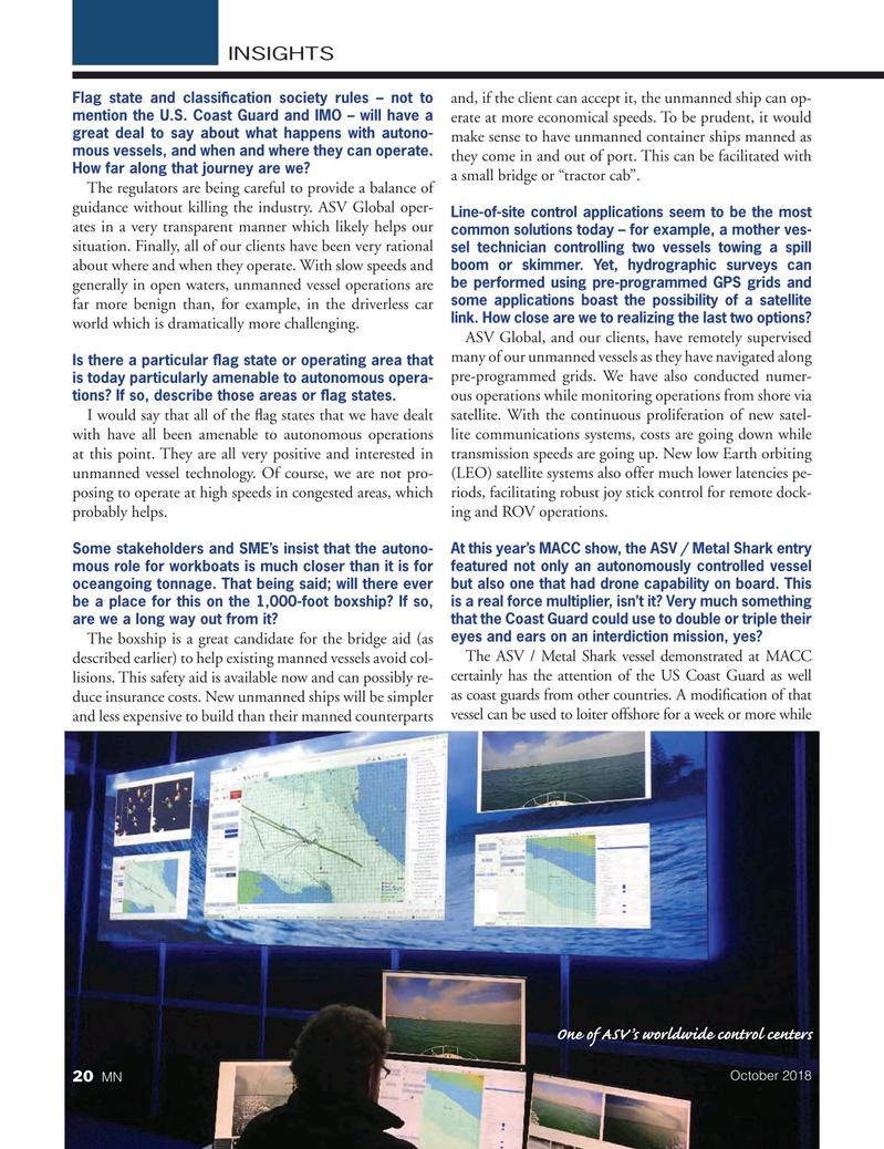 Marine News Magazine, page 20,  Oct 2018