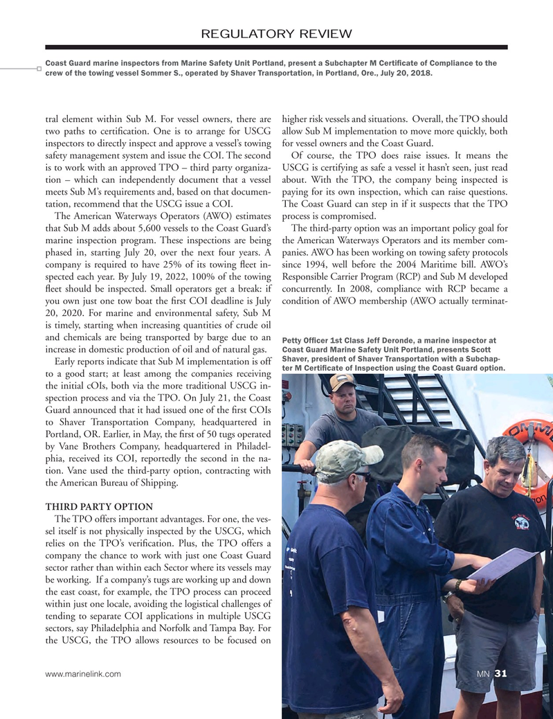 Marine News Magazine, page 31,  Oct 2018