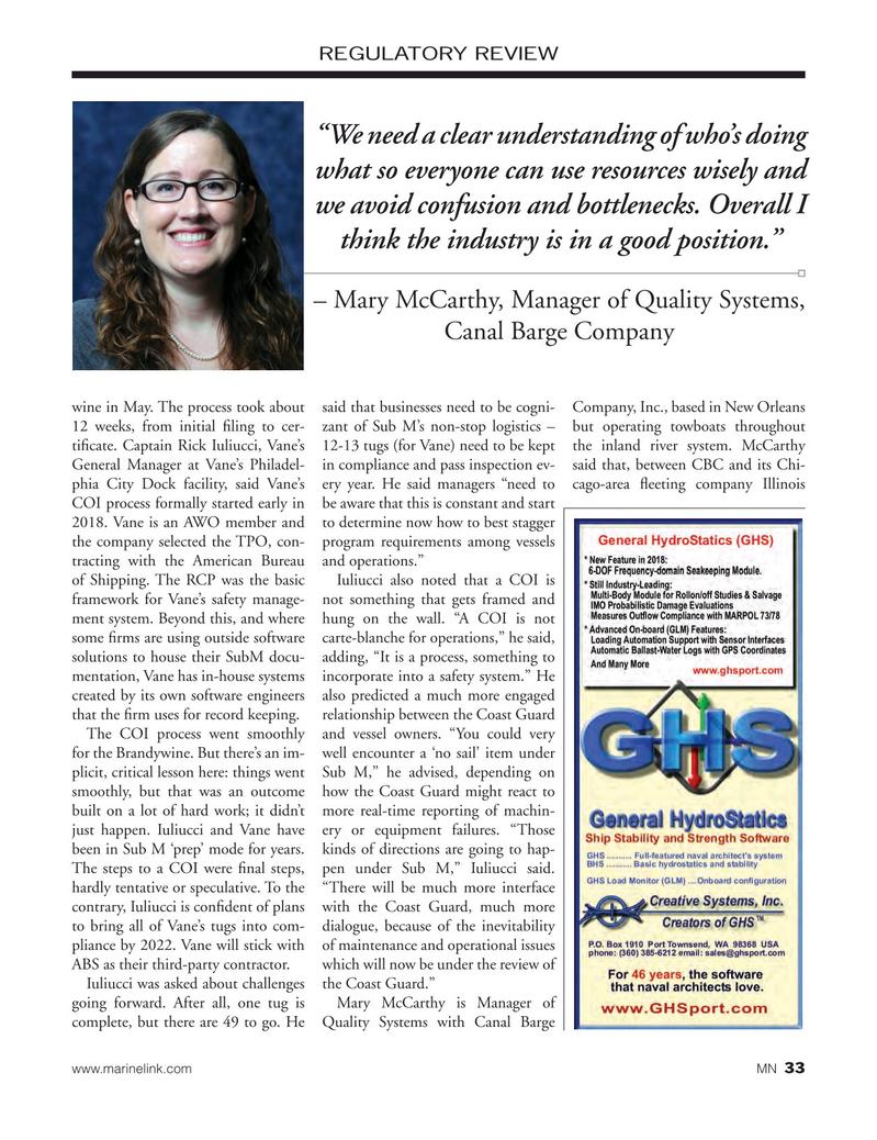 Marine News Magazine, page 33,  Oct 2018