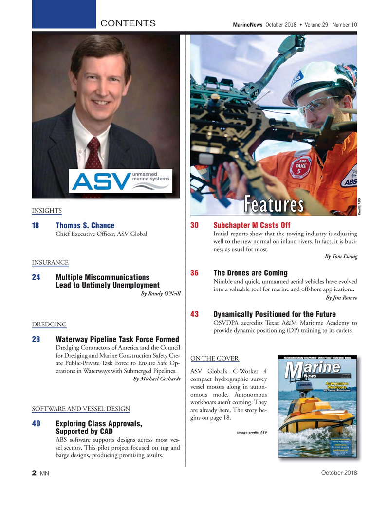 Marine News Magazine, page 2,  Oct 2018