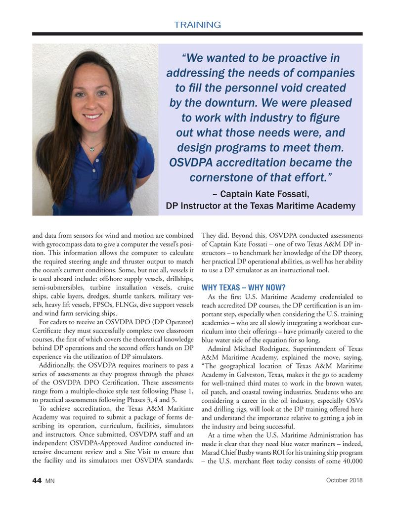 Marine News Magazine, page 44,  Oct 2018