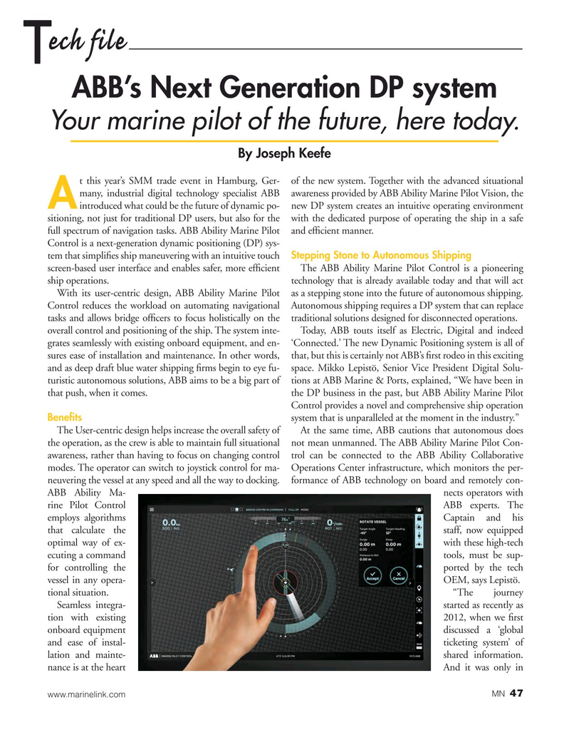 Marine News Magazine, page 47,  Oct 2018