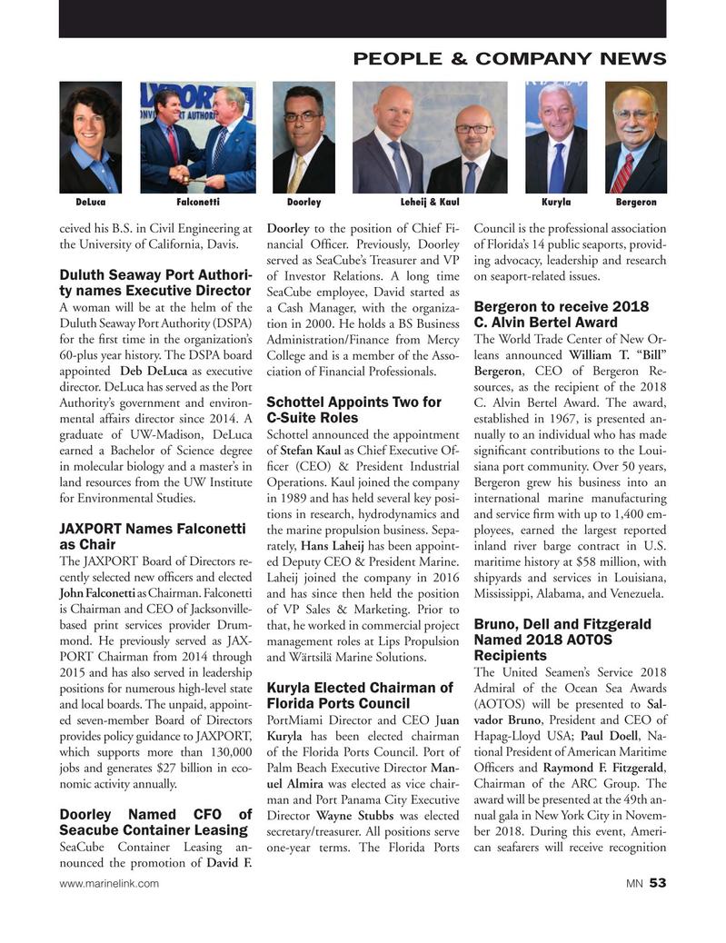 Marine News Magazine, page 53,  Oct 2018
