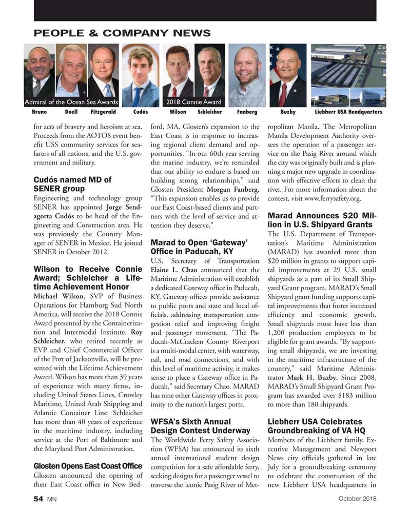 Marine News Magazine, page 54,  Oct 2018