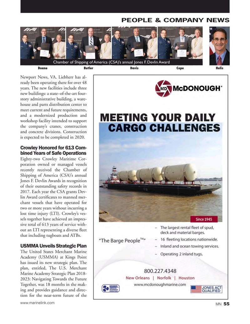 Marine News Magazine, page 55,  Oct 2018