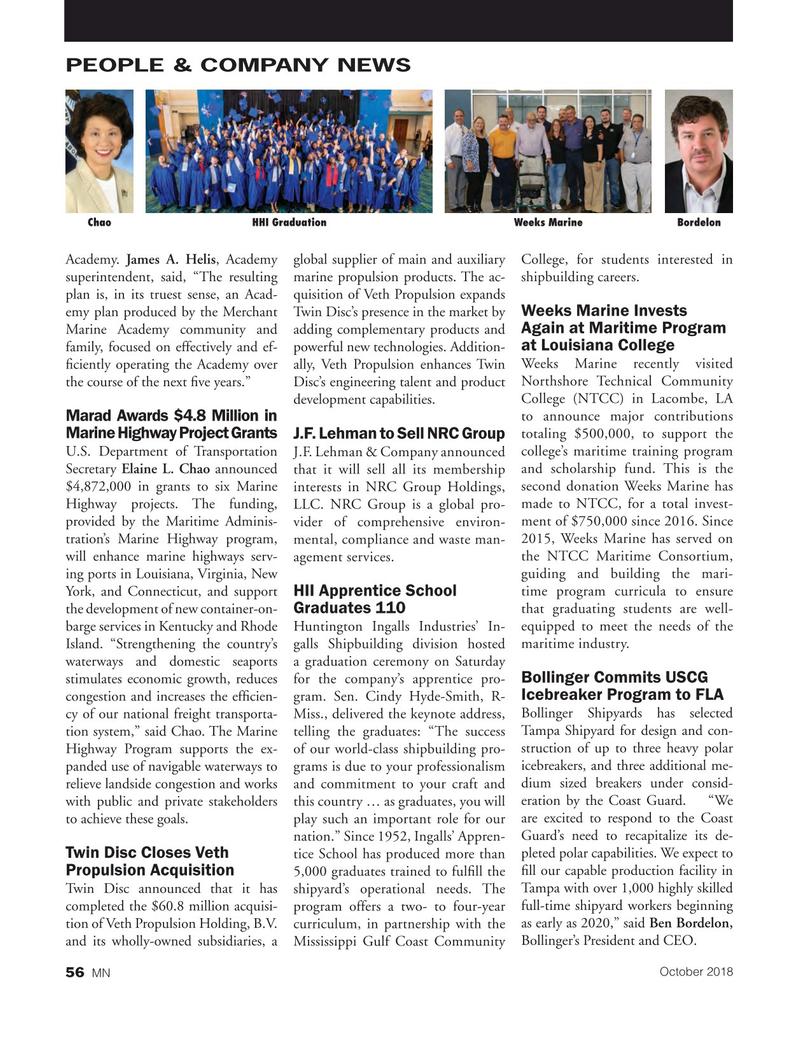 Marine News Magazine, page 56,  Oct 2018