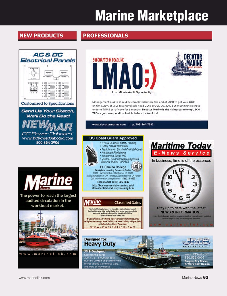 Marine News Magazine, page 63,  Oct 2018