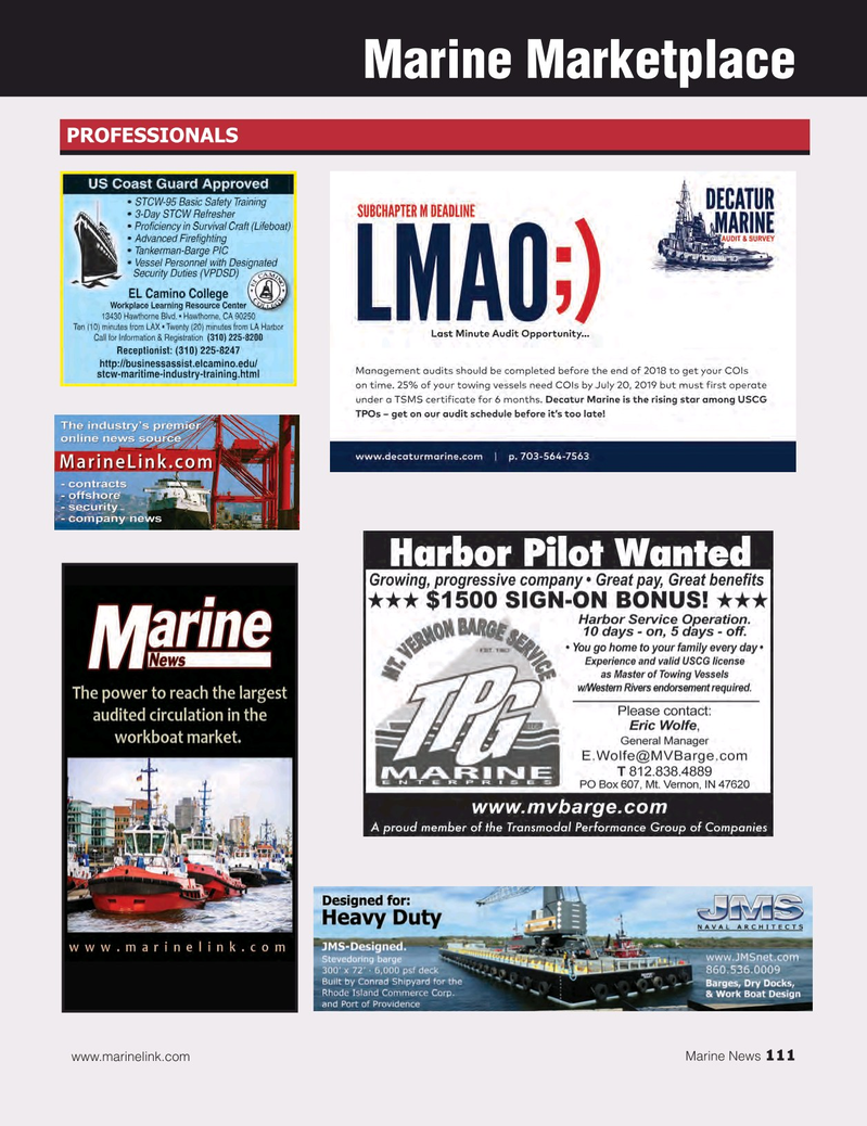 Marine News Magazine, page 111,  Nov 2018