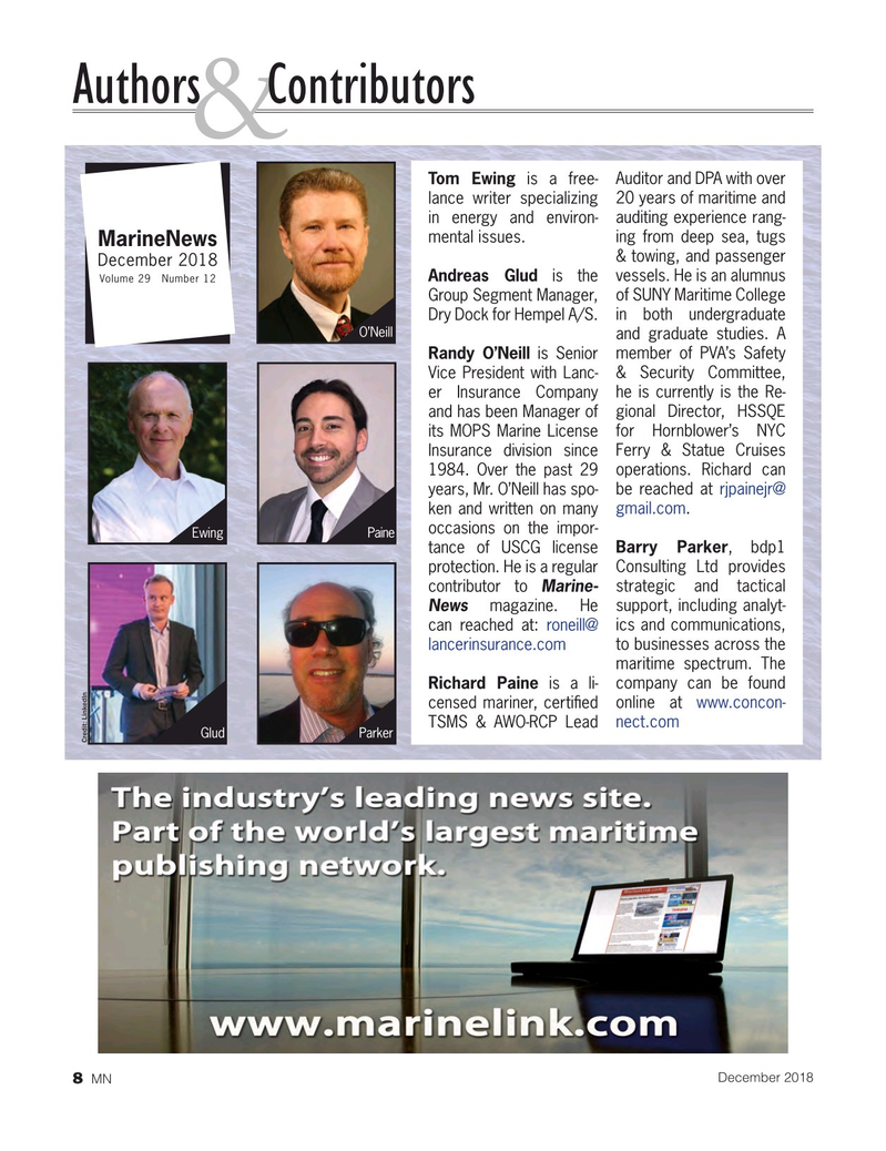 Marine News Magazine, page 8,  Dec 2018