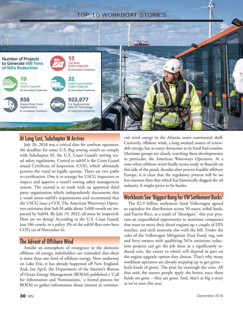 Marine News Magazine, page 30,  Dec 2018